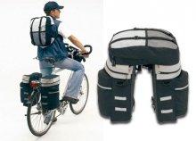 Kerékpártáska akár 3 részes szettben is strapabíró anyagból és fényvisszaverő prizmákkal