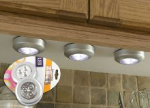 Szereld fel lakásod mobil lámpafénnyel: bárhova felragasztható, 3 darabos mini, nyomógombos led lámpa