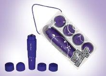 Funky vízálló csiklóizgató intenzív rezgéssel, 4 különböző fejjel, 4 színben, a maximális élvezetért
