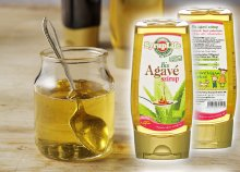 100% Bio agavészirup természetes édesítőszer, amelyből sokkal kevesebb kell, mint a fehér vagy barna cukorból