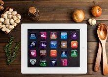 iPad formájú konyhai vágólap üvegből