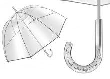 Bellevue kupola alakú, átlátszó esernyő
