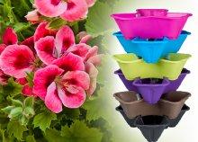 6 színben válaszható műanyag kaspó