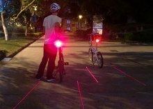 Lézeres nyomsávos kerékpár hátsólámpa