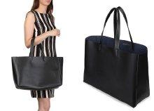 Made in Italia Lucrezia, márkajelzéssel díszített, női nagyméretű bevásárló táska háromféle színben