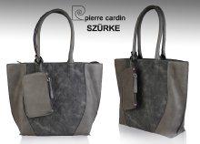 Pierre Cardin márkájú, márkajelzéssel díszített, műbőr női válltáska, levehető borítéktáskával háromféle színb