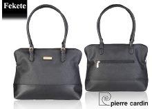 Pierre Cardin női, eco-bőr válltáska dupla fogantyúval