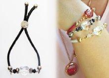 Bőr állítható barátság karkötő Swarovski kristályokkal