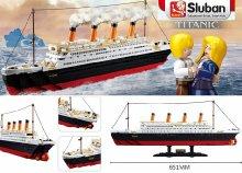 Sluban építőjáték készlet, nagy Titanic modell, 1012 darabos