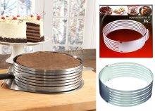 Rozsdamentes, állítható tortaszeletelő