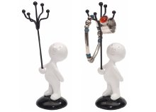 Ékszertartó figura 5 karral nyakláncok, gyűrűk és fülbevalók tárolására