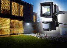 360 fokban forgatható, mozgásérzékelős LED reflektor