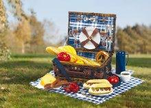 Praktikus, kétszemélyes Central Park piknik kosár