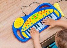 Gyerek szintetizátor mikrofonnal