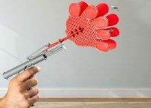 Kézformájú légycsapó pisztoly