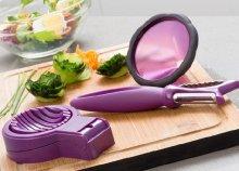 3 db-os konyhai eszközök zöldség formázáshoz