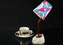 Designos kávé lámpa