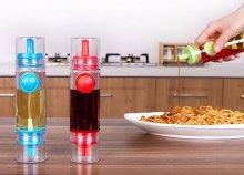 2 oldalas, üveg, olaj vagy ecet adagoló