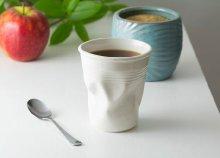 Kerámia gyűrött kávés csésze