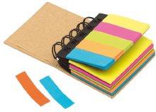 Kicsi, gyűrűs iratgyűjtő színes öntapadós jegyzettömbökkel