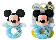 Babacsörgő plüss karika Disney bébi Mickey fejjel