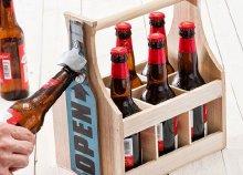 Wagon Trend vintage borospalack tartó beépített palacknyitóval