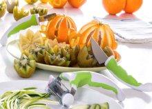 3 részes Slice·Art Set zöldségdíszítő eszközök