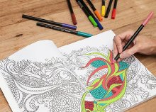 Stresszoldó színezőkönyv