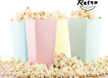 10 db pöttyös popcorn-os vödör