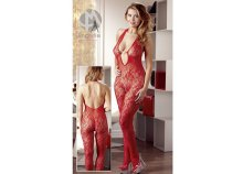 Catsuit Perle rot S/M