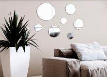 Oh My Home 7 darabos geometrikus tükrök ragasztóval