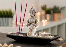 Oh My Home dekoratív Buddha szett (gyertyával és füstölővel)