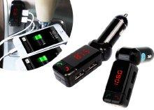 Autós töltő MP3 lejátszóval, dupla töltővel és Bluetooth-al