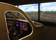 Repülőgép-vezetés szimulátorban