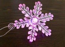 Világító, LED-es hópihe dekoráció