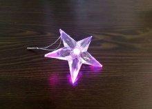Világító, LED-es csillag dekoráció