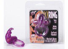 Vibrátoros péniszgyűrű, lila