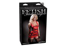 Erotikus miniruha, piros-fekete