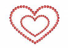 Szív alakú strasszköves mellbimbó tapasz