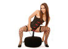 Felfújható puff, vibrátoros erotikus játék.