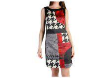 Desigual Dresses 47V2852_2000_NERO-ROSSO