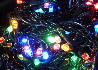 6 féle 100 vagy 180 LED-es kültéri és beltéri karácsonyi izzósor, hideg fehér, meleg fehér és színes