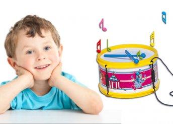 Igazán szuper ajándék gyermekednek! Nyakba akasztható nagy műanyag játék dob