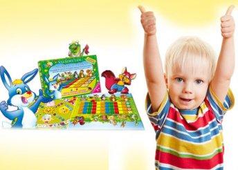 Nyuszifutam és Ki nevet a végén? társasjáték, mely remekül fejleszti a 3-4 éves gyermekek készségeit