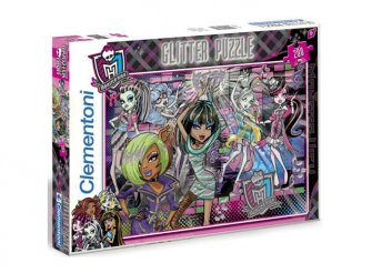 200 db-os Monster High-os csillám puzzle