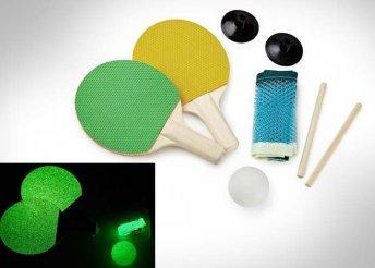 Világító, asztali ping pong készlet