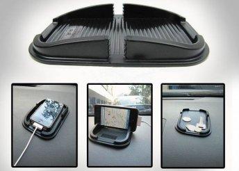 Könnyen tapadó, csúszásmentes felülettel ellátott, univerzális autós tartó telefonnak, kulcsoknak vagy aprónak