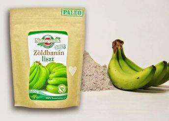 Gluténmentes, 250 vagy 500 g-os zöldbanánliszt