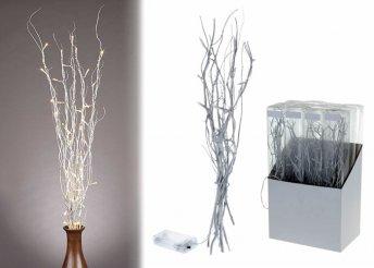 Dobd fel a karácsonyi dekorációt ezüst színű, LED-es gallyakkal!