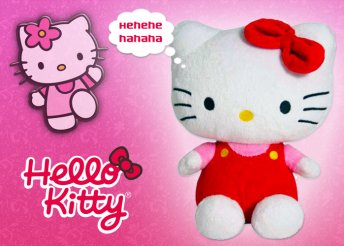 Hello Kitty nevetős plüssfigura